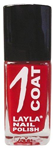 Layla 1262R23-006 1 Coat Smalto per Unghie, Tonalità 06 Red Passion