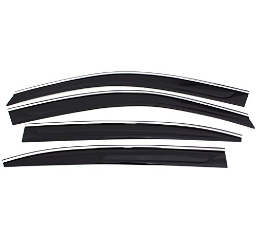 Auto Ventshade 794041 Smoke Low-Profile Window Deflector with Chrome Trim - 4 Piece (The Original Ventvisor) (2014 Camry Window Deflectors compare prices)