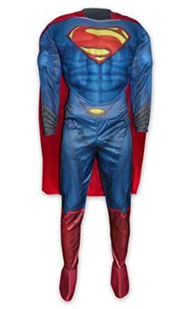 man of steel deluxe kost m superman f r erwachsene kost m bekleidung. Black Bedroom Furniture Sets. Home Design Ideas