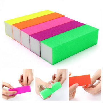 5Pcs-Fluorescent-Color-Buffing-Sanding-Nail-Files-Block-Manicure-Tool