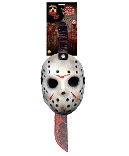 Jason Friday Thirteenth Halloween Hockey Mask & Machete Fancy Dress Set (Brazil Fancy Dress Ideas)