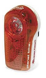 Planet Bike Blinky Super Flash 1/2-Watt Blaze LED Plus 2 eXtreme LED Rear Bicycle Light