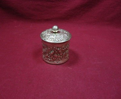 "Repousse By Frank Whiting Sterling Silver Tea Caddy #56 2 1/2"" High"