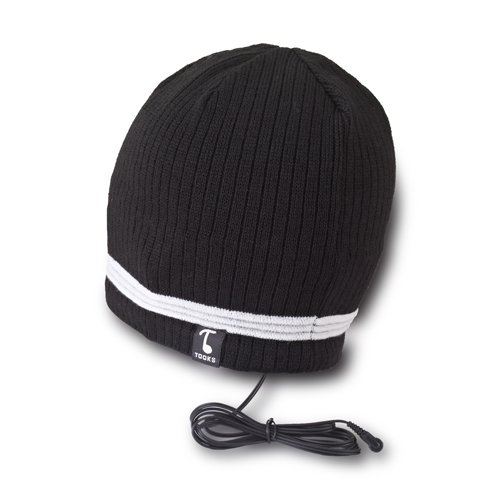 Tooks Velocity Headphone Beanie With Built-In Removable Headphones - Color: Black, Unique Gift Idea