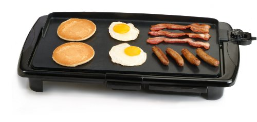 Maximatic Egr-2010 Elite Gourmet 20-By-10-Inch Non-Stick Electric Griddle With Grease Tray, Black