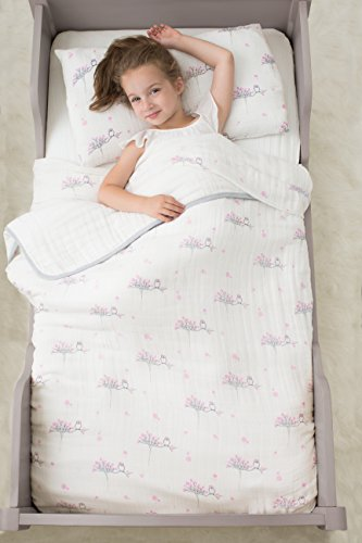 aden + anais Classic Toddler Bed in a Bag - For the Birds Kids Bedding Sets: Toddler Bedding, Toddler Pillow, Cotton Blanket