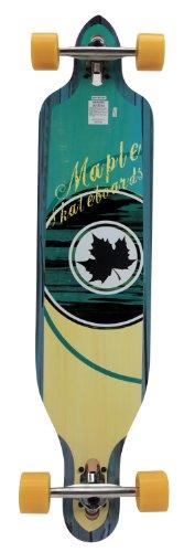 """Maple - Mellow Drop Through, skateboard longboard, completo, 104 cm (41"""") x 23,5 cm (9,25""""), colore: Legno/Blu"""
