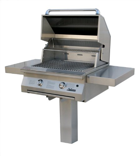 Solaire 30-Inch Infrared Natural Gas In-Ground Post Grill, Stainless Steel