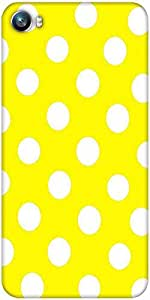 Snoogg Yellow Polka Dot Designer Protective Back Case Cover For Micromax Canvas Fire 4 A107