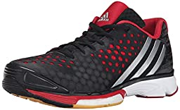 adidas Performance Women\'s Volley Response Boost W Shoe,Black/Silver/Power Red,6.5 M US