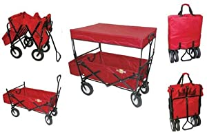 On The Edge 900124 Red Folding Utility Wagon With Handle by On The Edge