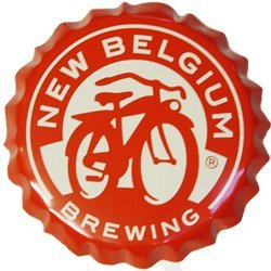 New Belgium Brewery Giant Bottle Cap Sign (Fat Tire Beer Sign compare prices)