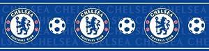 Chelsea FC - Cenefa adhesiva, color azul de Fine Decor