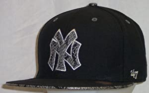New York Yankees Black Snake Pit Metallic 47 Pro Wool Cooperstown Fitted Cap Hat size... by