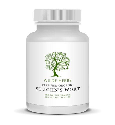 Organic St Johns Wort 100 Capsules (Wilde Herbs)