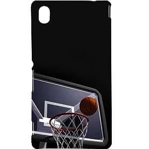 Casotec Basketball Basket Design Hard Back Case Cover for Sony Xperia M4 Aqua