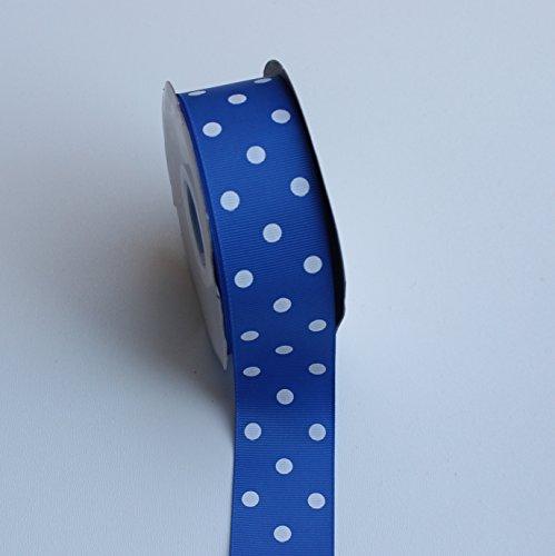 Royal Blue Polka Dot Grosgrain Ribbon - 1.5 Inch X 5 Yard - Grosgrain Ribbon Blue Polka Dot
