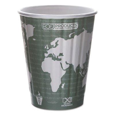 ECOEPBNHC12WD - World Art Renewable amp; Compostable Insulated Hot Cups - 12oz.