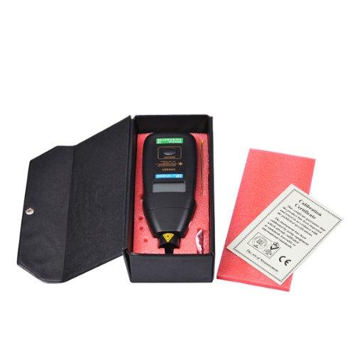 Digital Laser Tacho Foto Berührungsloser Tachometer Drehzahlmesser optisches Messgerät