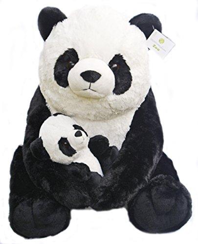 Giant Panda Teddy Bear With Baby Panda Plush Stuffed Animals Gift