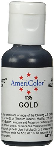 Americolor Soft Gel Paste .75 oz Gold Color by AmeriColor