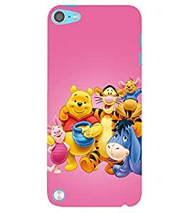 Evaluze Pooh Printed Back Case Cover For Apple Ipod Touch 5