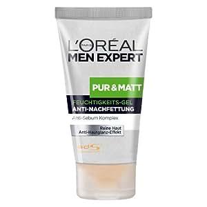 L'Oréal Men Expert Pur und Matt Pflege Feuchtigkeits Gel, 1er Pack (1 x 50ml)