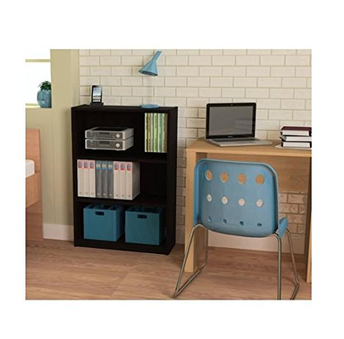 Ameriwood 3-shelf Bookcase, Multiple Finishes. Ideal for Dorm Room, Home Office, Living Room or Any Room. (Black) Ameriwood 3 Shelf Bookcase