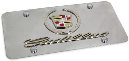 2 CADILLAC plastic Chrome color License Plate Frame