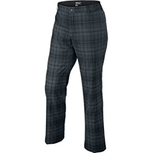Nike Golf Men's Plaid Pants - 34W x 32L - Black/Night Stadium