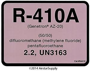 R410a Refrigerant Labels # 04410 Color Coded Refrigerant ID Labels by Diversitech
