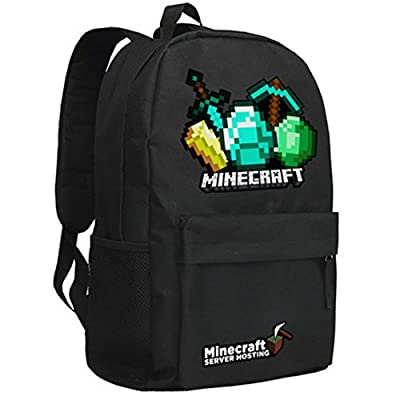 Minecraft Creeper Backpack Black 3# from Minecraft