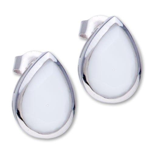 Pugster 925 Sterling Silver Drop June Birthstone Stud Earrings
