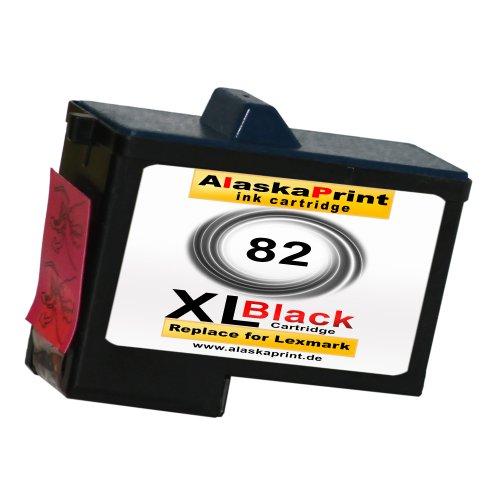 Sparangebot 1x Druckerpatrone Tintenpatrone Ersatz für Lexmark 82 XL (1x Black ) Ink Cartridge Original Fanaserie