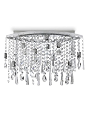 Flush Beaded Curtain Ceiling Light