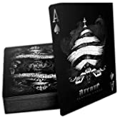 Arcane Deck, Bicycle Playing Cards by Ellusionist, Black 白の難解なトランプ
