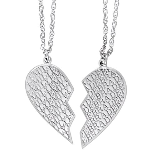 White Gold Heart Necklace Amazon