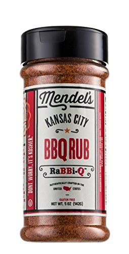 Mendel's Kansas City BBQ Rub | Kosher Gluten Free BBQ Rub is a Great for BBQ Chicken, Beef or to Dry Rub Ribs - 5 oz (Kansas City Bbq Rub compare prices)