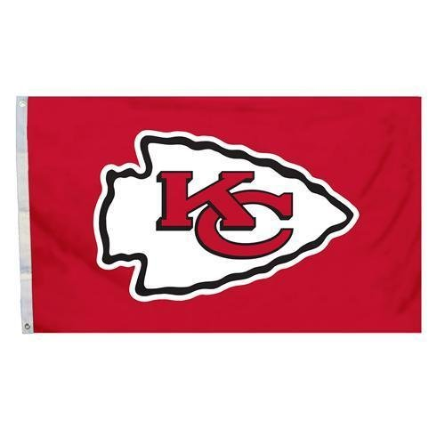 NFL Kansas City Chiefs 3 Ft. x 5 Ft. Flag with Grommetts