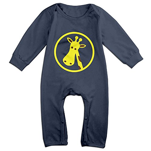 Posit-Babys-Giraffe-7-Boys-Girls-Kids-Creeper-Romper-Bodysuits-Jumpsuits-Size-US-Navy