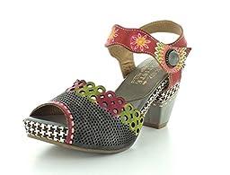 L\'Artiste by Spring Step Women\'s Jive Flat Sandal, Gray Multi, 36 EU/5.5-6 M US