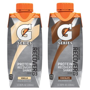Gatorade® G Series Pro RECOVERY 03 Protein Recover Shake - Endurance Cyclist (12 Pack, Mixed Chocolate and Vanilla)