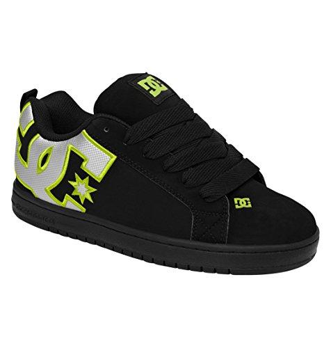 Dc Men'S Court Graffik Se Shoe,Black/Soft Lime/Monogram,7.5 M Us front-1036411