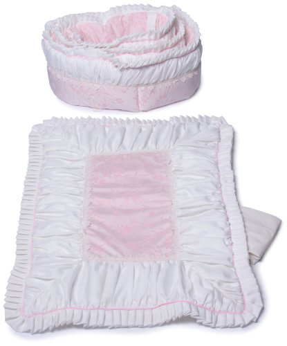 Imagen de Baby Doll Bedding Ruth Cuna Ropa de cama Set, Pink