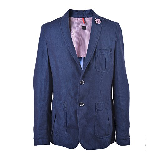 "Hugo Boss Men'S ""Marquel15-W"" Linen Slim Fit Two Button Blazer Us 40R It 50R"