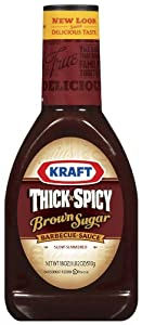 Kraft Thick And Spicy Brown Sugar Barbecue Sauce 18 Ounce Bottles Pack Of 4 from Kraft