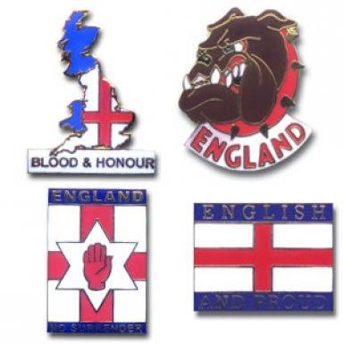 England Bulldog Pin Badges