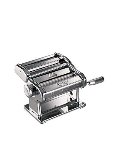 Marcato Atlas 150 Pasta Maker with a Brushed Finish, Silver