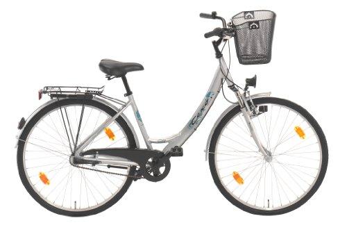 texo damen city fahrrad alu 3 gang r cktrittbremsnabe gefedert mit korb stratosilber. Black Bedroom Furniture Sets. Home Design Ideas