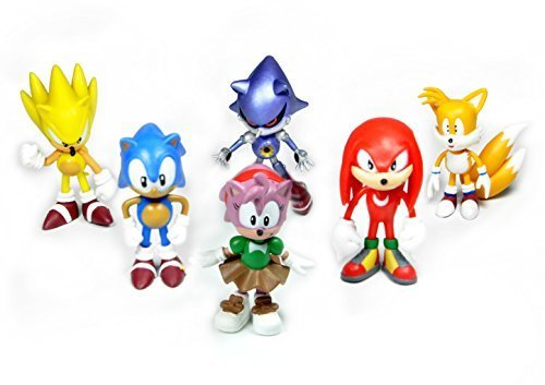 "Idesire Sonic the Hedgehog Action Figure Multi Pack 2"" (6pcs-Set)"